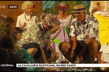 Opéra, sur un air de Reo Tahiti