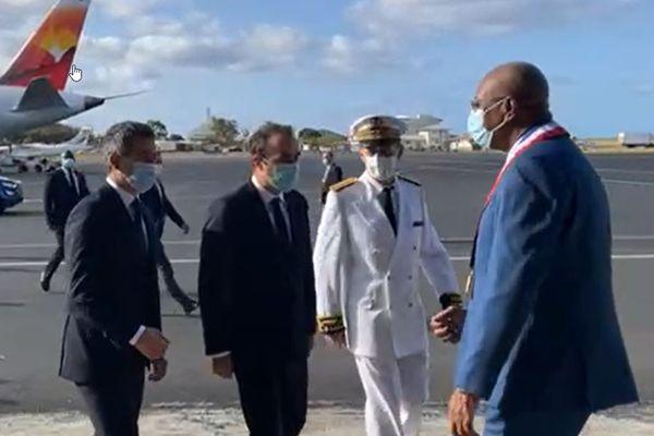 Visite ministérielle 28 août Darmanin Lecornu aéroport Pamandzi