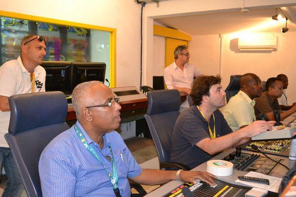 La régie TV de Mayotte 1ère
