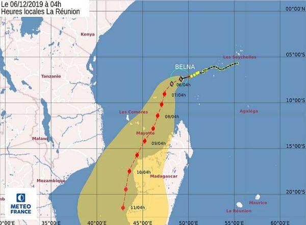 Belna, tempête tropicale, 6 décembre 2019