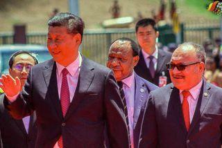 Le président chinois et les dirigeants de PNG, novembre 2018