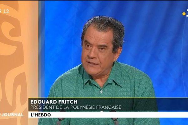 Invité du VEA et du JT : Edouard Fritch, Président de la Polynésie Française