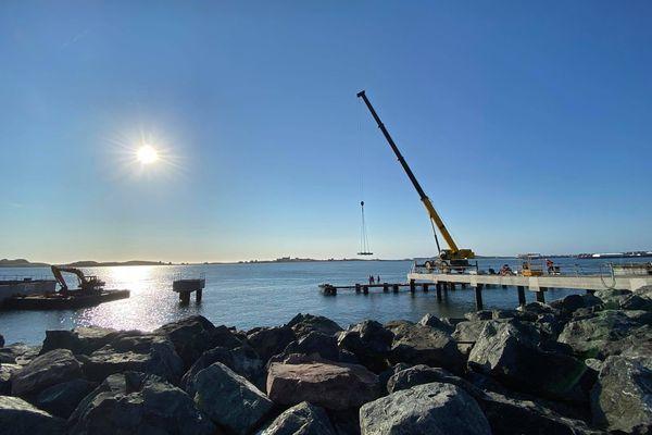 Terminal de croisière à Saint-Pierre : le chantier se poursuit