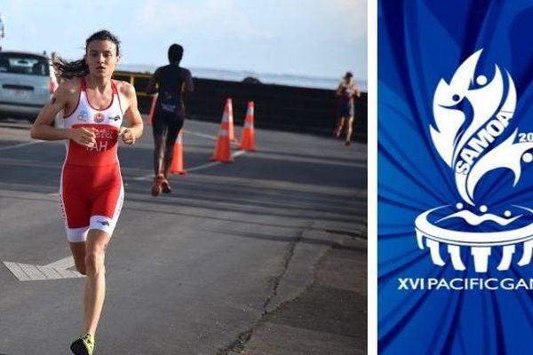 Samoa 2019, mosaïque aquathlon