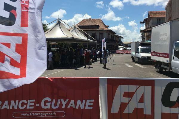 France Guyane au marché de Cayenne 16 novembre 2019
