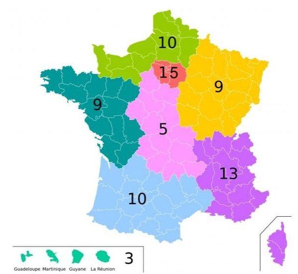 Elections européennes carte circonscriptions