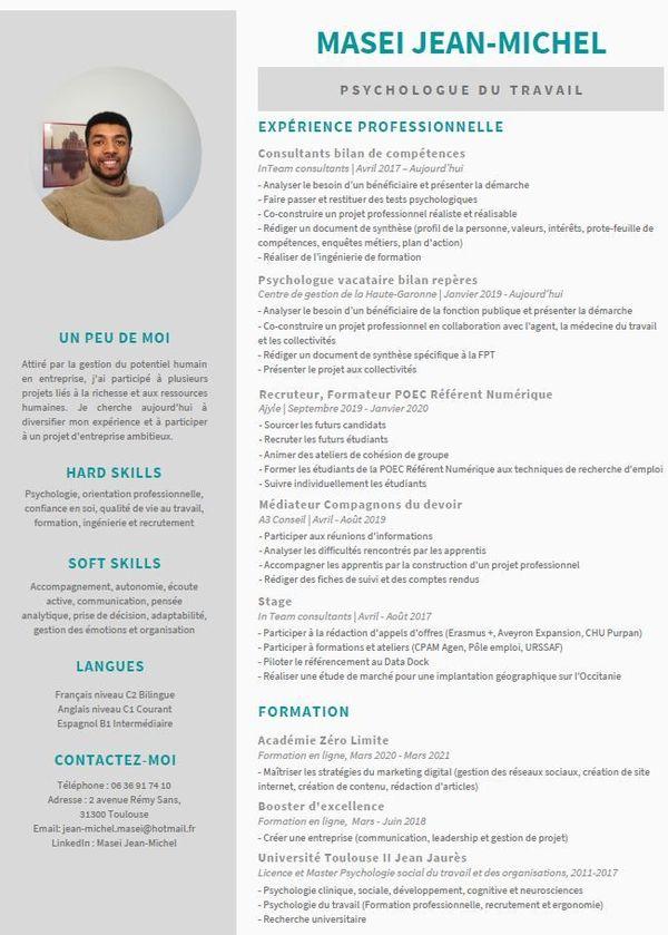 CV de Jean-Michel Masei