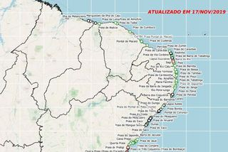 Pollution des plages du sud du Brésil