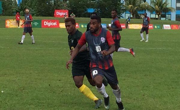 Samoa 2019, match de foot Calédonie - Salomon