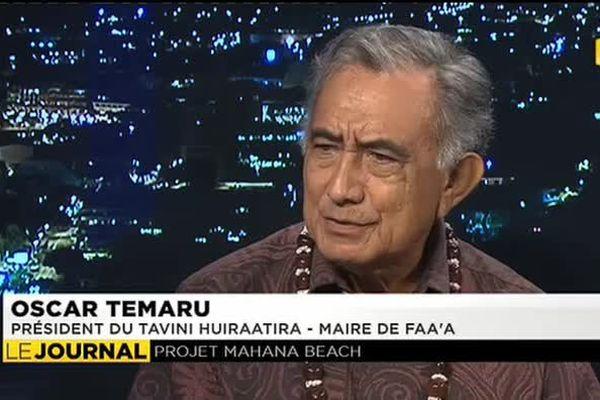Oscar Temaru était l'invité du journal de Polynesie 1ère
