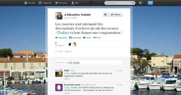 Le tweet du député.