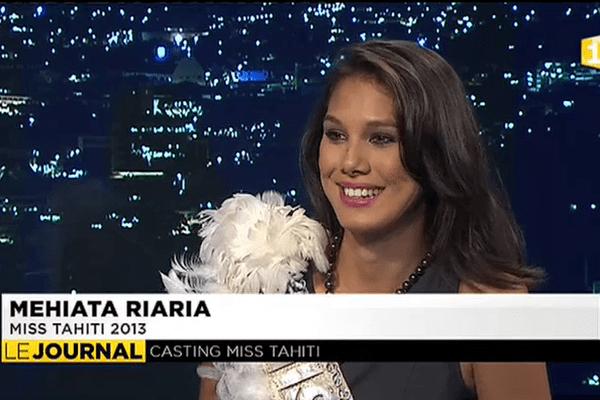 Miss Tahiti Mehiata Riaria était l'invité du journal