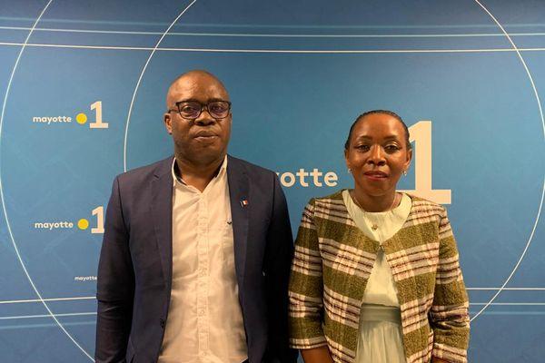Madi Velou se présente avec Zamimou Ahamadi dans le canton de Dembeni