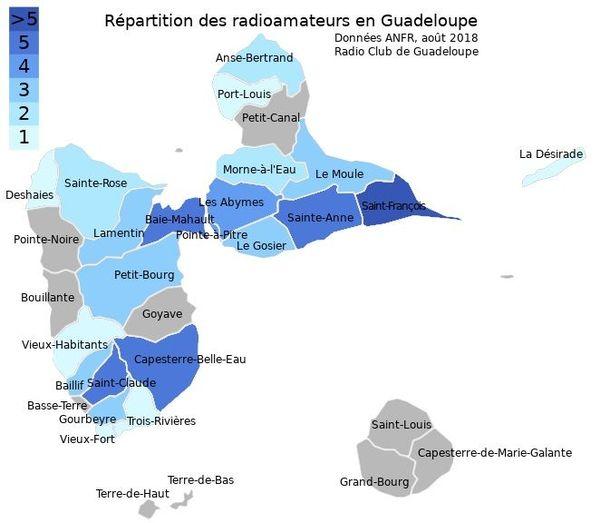 Réseau actuel des radioamateurs de l'archipel
