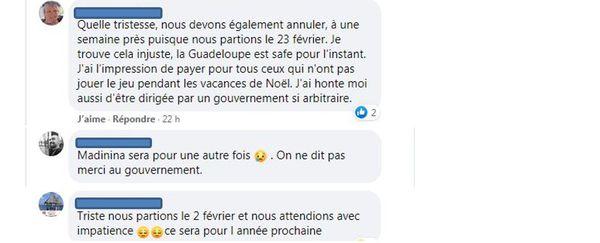 Posts FB de clients d'Air Belgium
