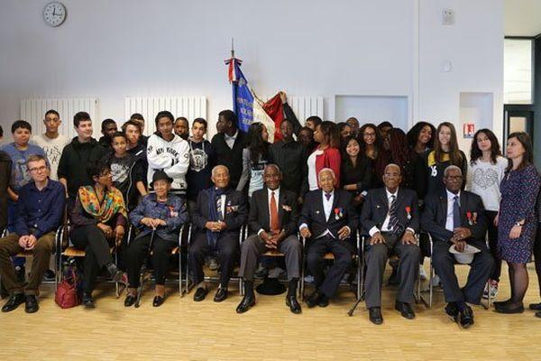Les six dissidents antillo-guyanais au collège Aimé Césaire (Paris 18e), le jeudi 5 juin 2014
