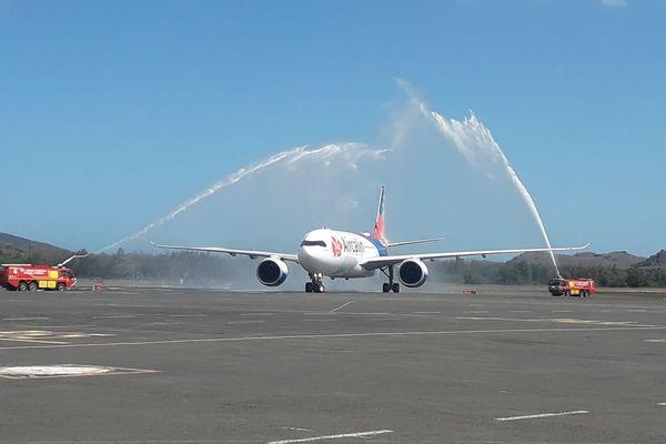 Arrivée Airbus Aircalin Kanumera