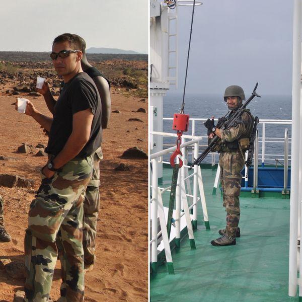 Damien a été pendant 10 ans fusilier marin