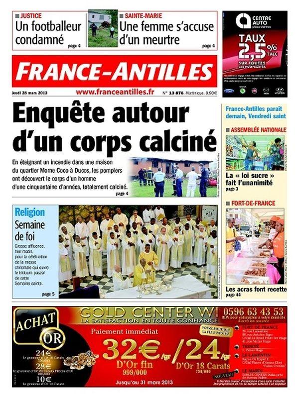 France Antilles Martinique 28 mars 2013