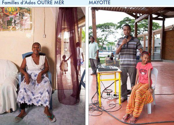 Famille d'ados à Mayotte