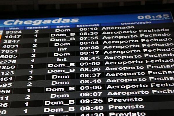 Panneau aéroport Porto Alegre