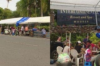 Grève à l'Intercontinental de Moorea