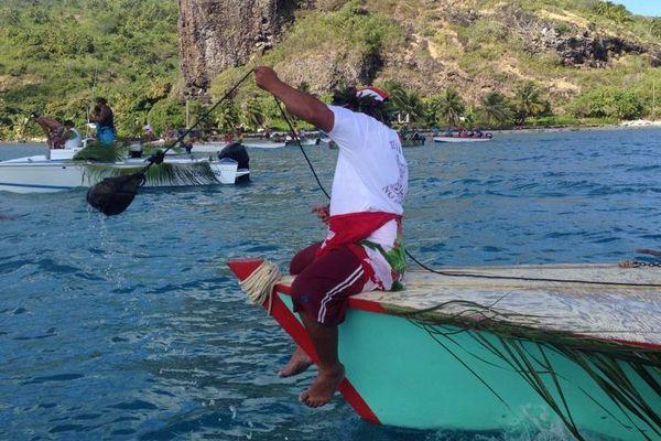 Pêche au caillou Maupiti