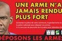 """La campagne """"Déposons les armes"""" se termine ce 31 décembre"""