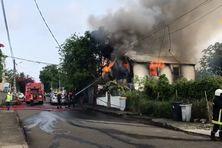 incendie à Fort-de-France au 69 rue Condorcet, mercredi 9 juin 2021