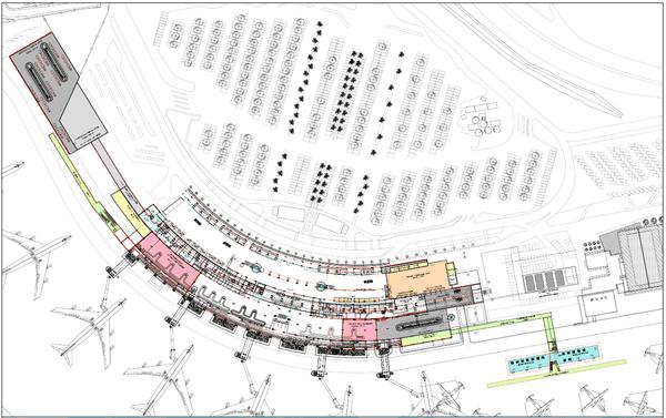 plan d'extension de l'aéroport Aimé Césaire