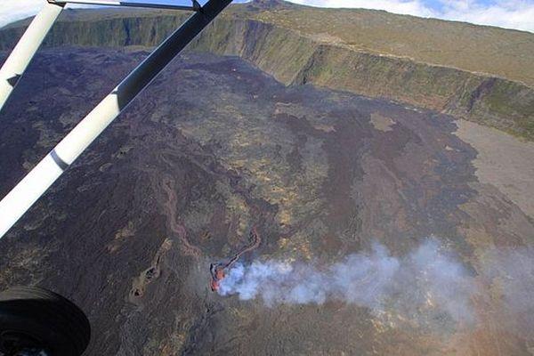 Photo du volcan en éruption le 20 septembre 2018