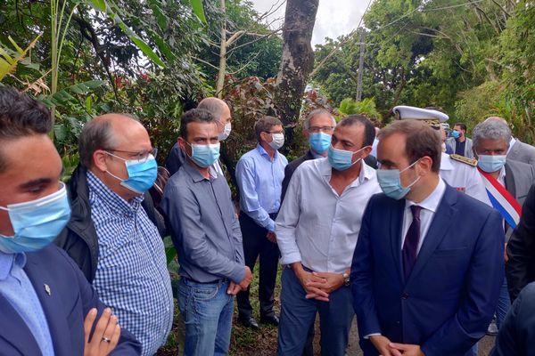 Visite ministérielle : Sébastien Lecornu est a st benoit