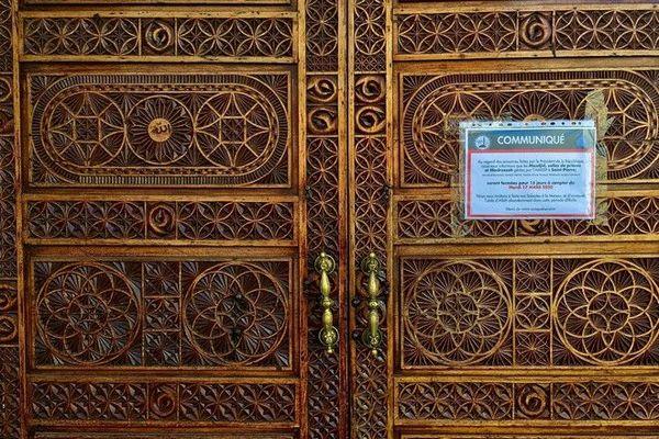 Coronavirus confinement Ramadan mosquée de Saint-Pierre fermée portes closes 240420
