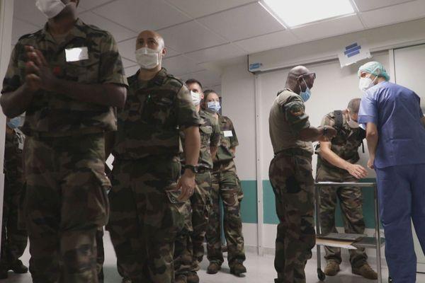 Militaires en renfort au CHU
