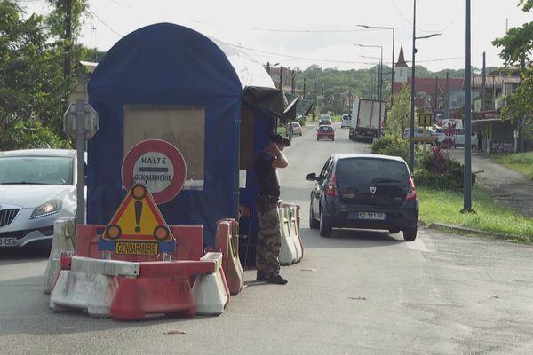 poste de contrôle à Iracoubo
