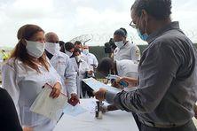 Arrivée de la délégation de médecins cubains en Martinique