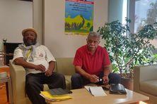 Victor Tutugoro et Louis Mapou, à Nouméa, le vendredi 4 juin 2021.