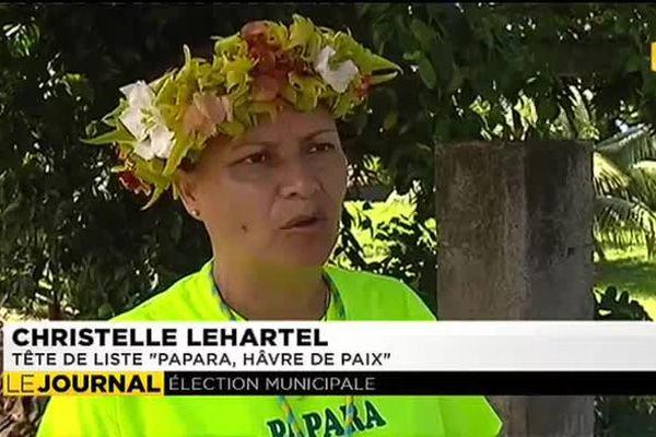 """Christèle Lehartel tête de liste """"Papara havre de paix"""""""