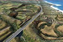 Le projet de carrière de Bois-Blanc s'étend sur 40 hectares, de part et d'autre de la route des Tamarins