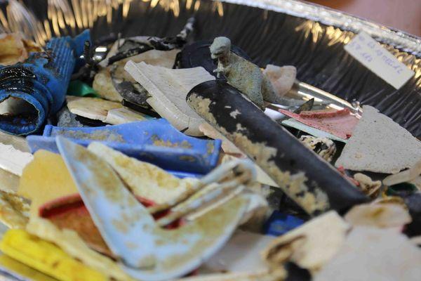 Déchets plastiques récupérés en mer par The Ocean Cleanup