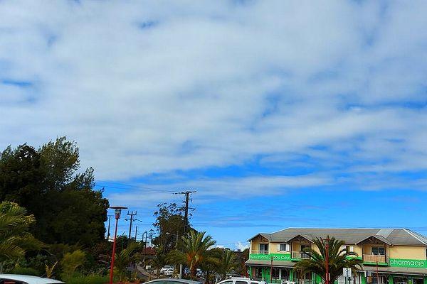 Ciel bleu et nuages sur La Plaine-des-Cafres 11 octobre 2021