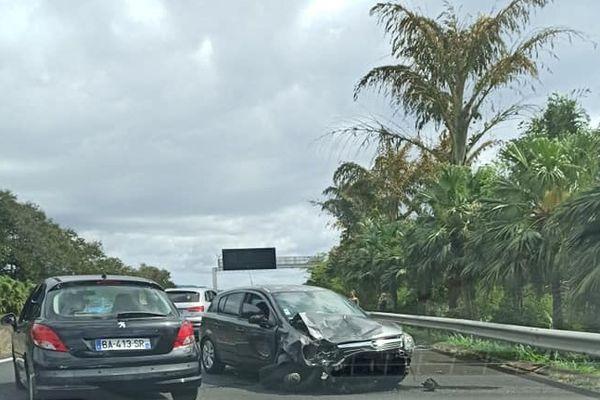 Accident quatre voies de Sainte-Marie