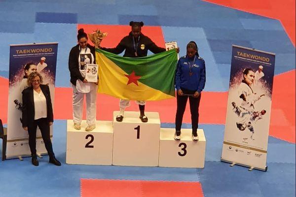 Kesia Diouf championne de France espoir de taekwando