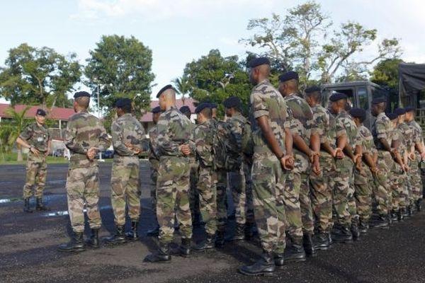militaires en Martinique