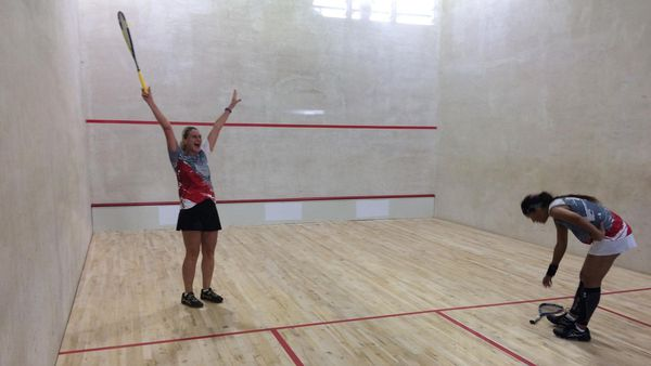 Samoa 2019, demi-finale de squash dames