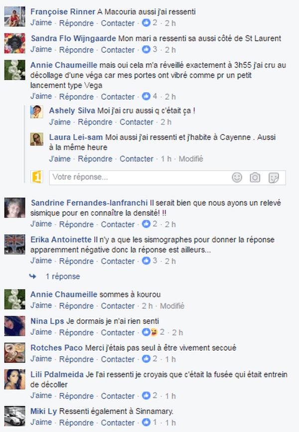 reactions tremblement de terre