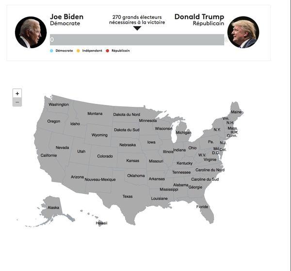 carte : résultats en direct de l'élection américaine