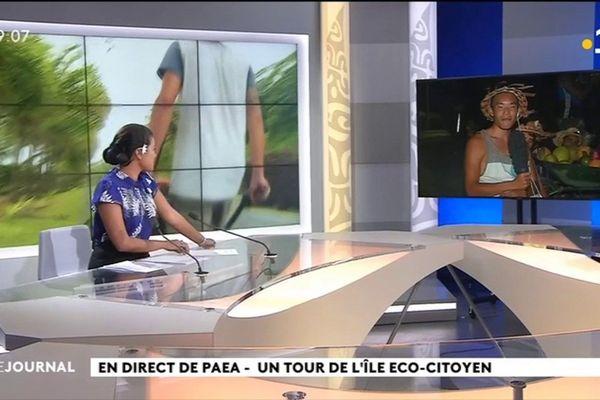 Tour de l'île éco-citoyen : une brouette pour éveiller les consciences