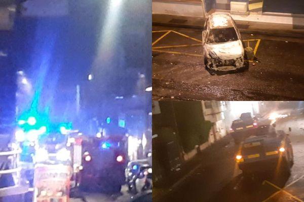Pompiers Terres-Sainville / blindés / gendarmes