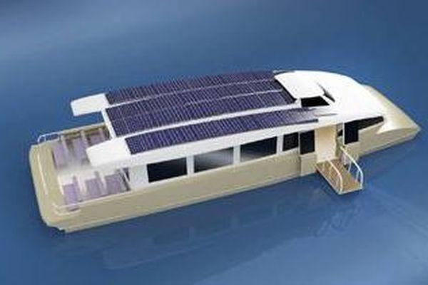 Navire à propulsion électrique solaire